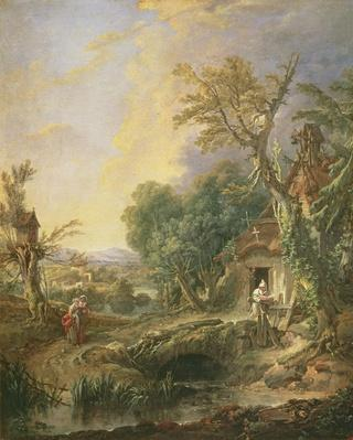 Landscape with a Hermit, 1742