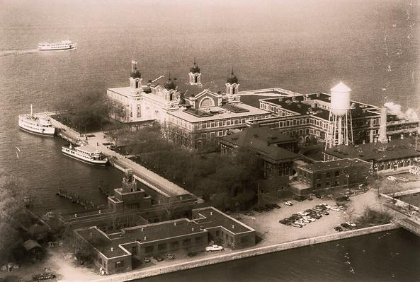 Aerial shot of Ellis Island | U.S. Immigration | 1840's to present | U.S. History