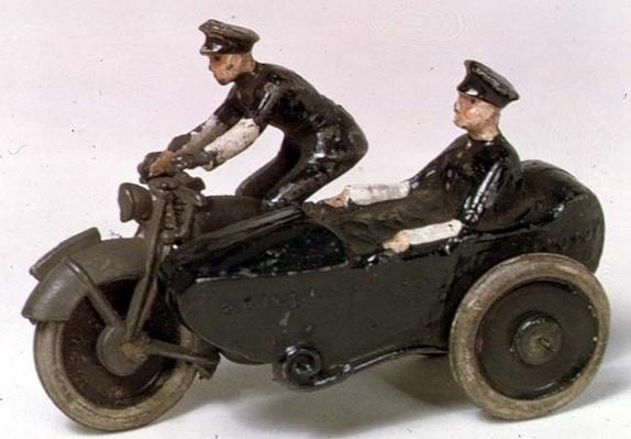 Model of motorcycle by J.Hill & Co., c.1938