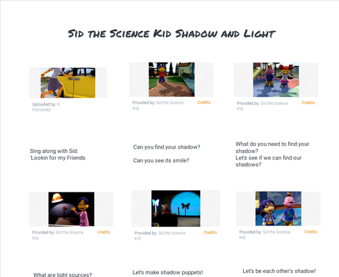 Sid the Science Kid | Shadow and Light