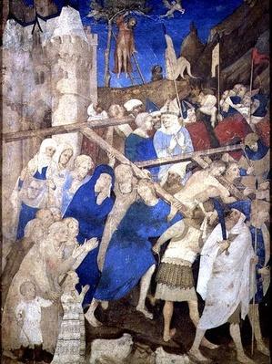 Christ Carrying the Cross, from the Grandes Heures de Duc de Berry, 1409