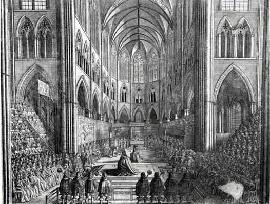 The Coronation of Charles II in Westminster Abbey, 23 April 1661