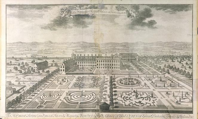 Bird's Eye View of the Gardens of Kensington Palace, engraved by Johannes Kip