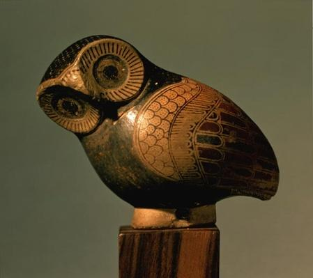 Vase in the form of an owl, Proto-Corinthian, c.640 BC
