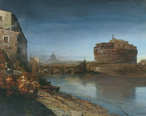 Castel Sant' Angelo at Dusk, 1882