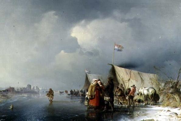 Dutch Encampment on the Ice, 1849