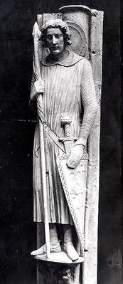 St. Theodore dressed as a Knight, relief carving, c.1230