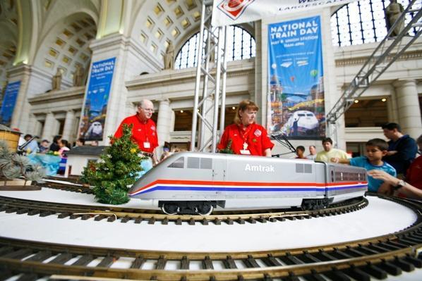 Amtrak Celebrates National  Train Day 2010 - Washington, D.C | Evolution of the Railroad (Engine)