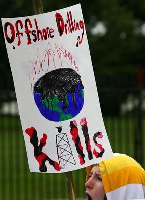 Activists Protest Offshore Drilling In Front Of The White House | Human Impact on the Physical Environment | Geography