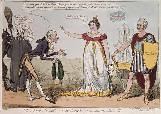 The Secret Insult or Bribery and Corruption Rejected, published by Benbow, 1820