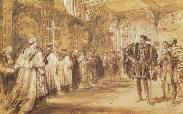 Henry VIII and Cardinal Thomas Wolsey, 1861