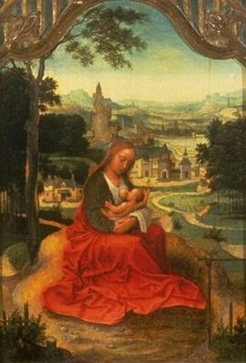 Val A. Browning Memorial Collection: Madonna and Child Seated in a Landscape