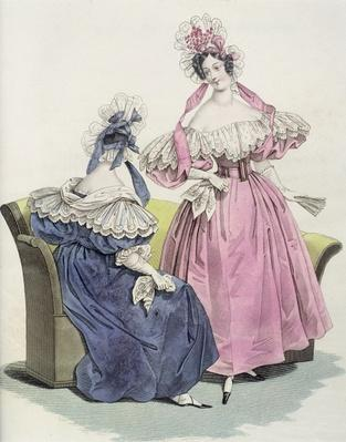 Fashion plate from, 'Le Follet Courrier des Salons Modes', 1832