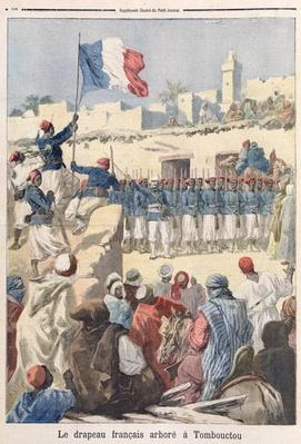 The Raising of the French Flag at Timbuktu
