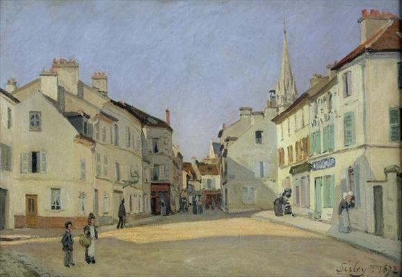 Rue de la Chaussee at Argenteuil, 1872