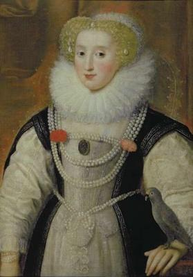 Portrait of an Elizabethan Lady with a Parrot
