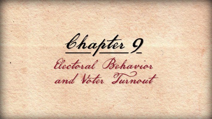"Founding Principles | ""Electoral Behavior and Voter Turnout"""