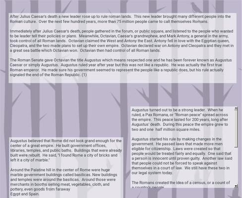 The Roman Empire  Lesson 2  p. 243-247