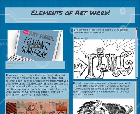 Elements of Art Word!