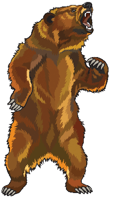 Angry Grizzly Bear | Clipart