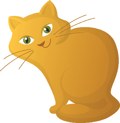 Red Cartoon Cat | Clipart