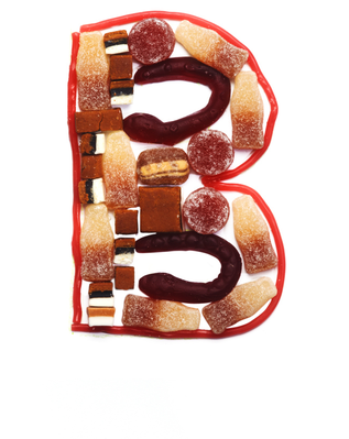 Sweet-Tooth Alphabet - B | Clipart
