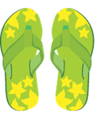 Summer Beach Set - Flip-Flops | Clipart