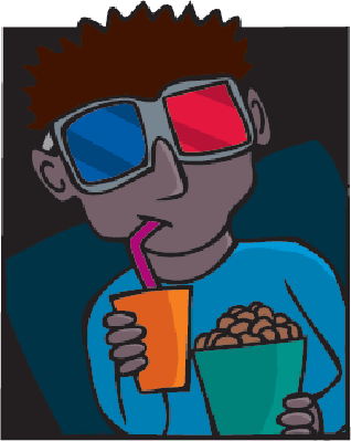 Modern Cinema-Goer | Clipart