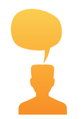 Set Head Silhouette With Speech Bubble | Clipart