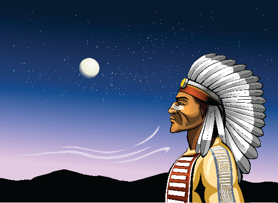 Indian Chief and The Wind of Change | Clipart
