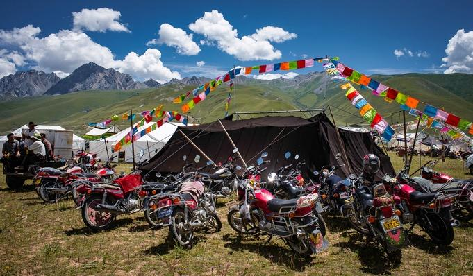 Nomad Tent and Motorbikes | Global Oneness Project