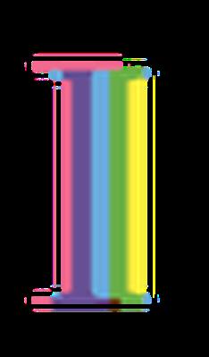 Four-Color Alphabet Letters - I | Clipart