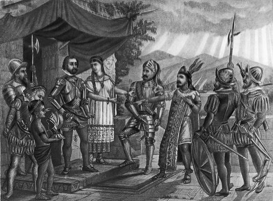 Hernando Cortes (1485-1547), Spanish conqueror of Mexico (B&W) | Famous Explorers