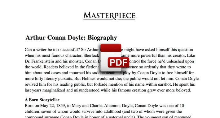 Arthur Conan Doyle: Biography PDF