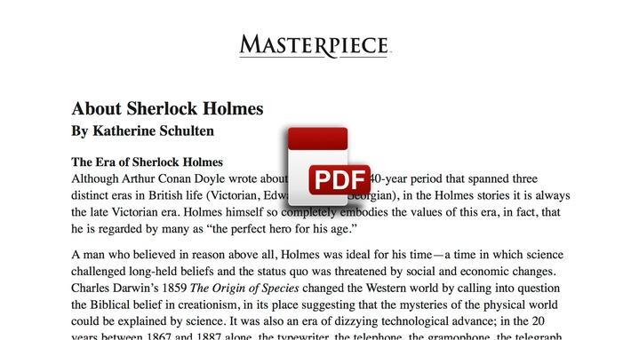 About Sherlock Holmes PDF
