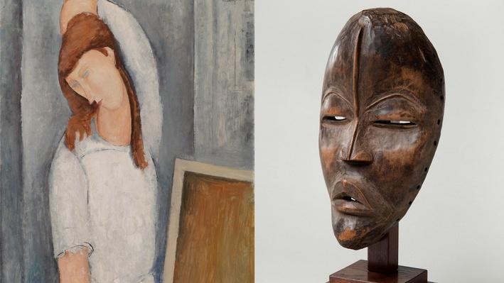 Jeanne Hébuterne and Face Mask