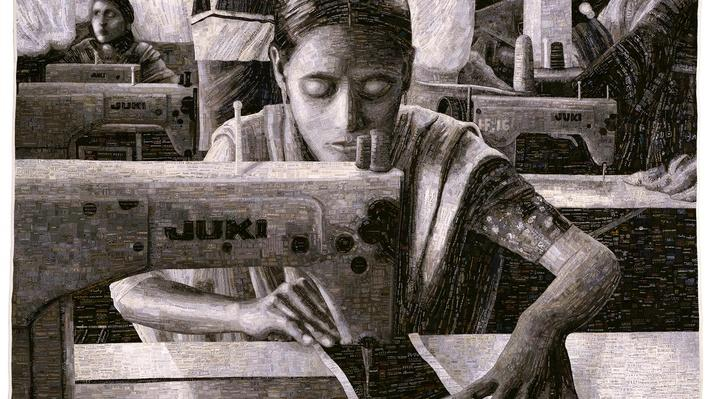 """Terese Agnew, """"Portrait of a Textile Worker,"""" 2005 