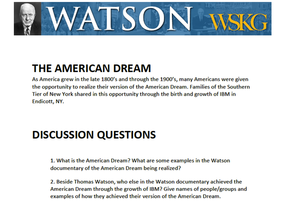 American Dream: Discussion Questions