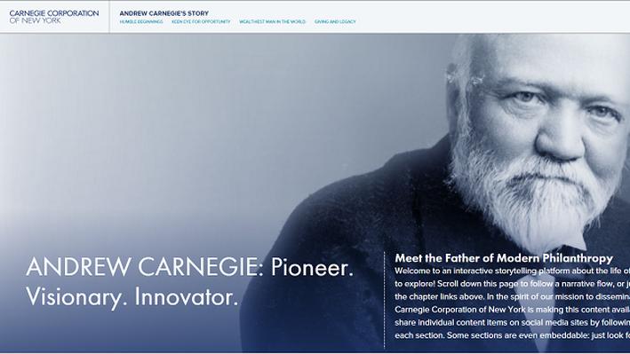 Andrew Carnegie Interactive Biography