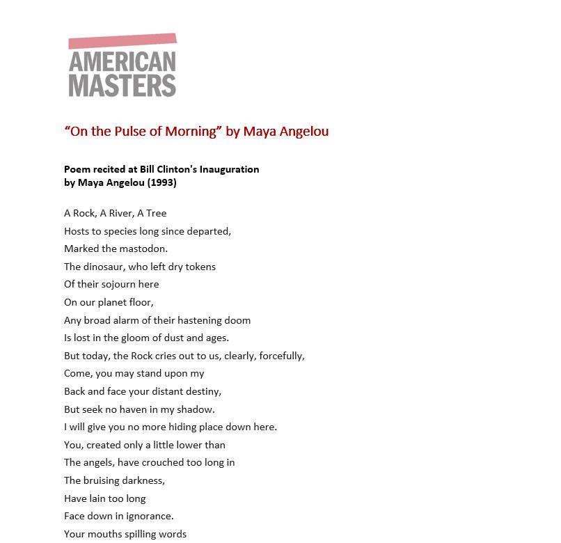 Maya Angelou Still I Rise Poem
