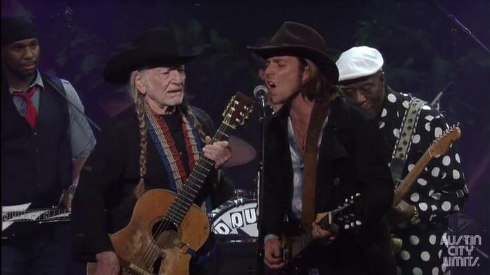 "An All-Star Ensemble Performs ""Texas Flood"" 