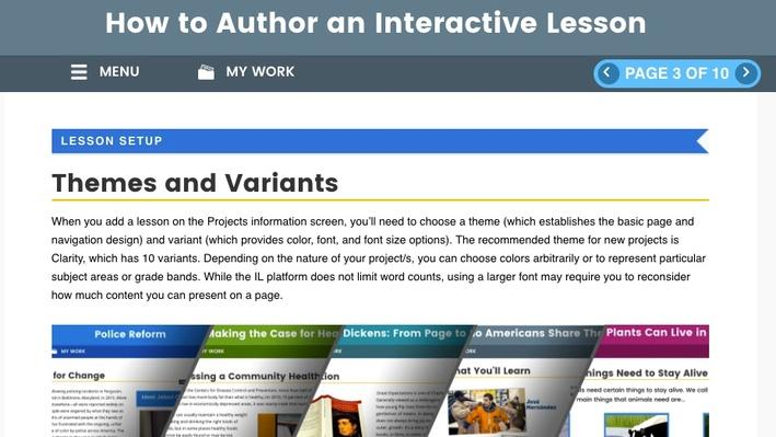 How to Author an Interactive Lesson