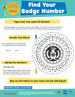 Find Your Badge Number - Odd Squad | Be the Agent Camp