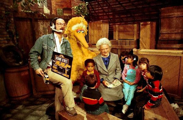 Barbara Bush on Sesame Street