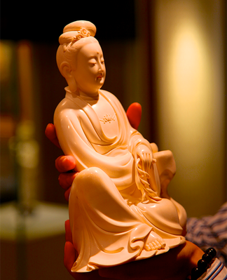 Ivory Sculpted Buddha