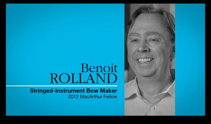 Benoit Rolland, Bow Maker | MacArthur Fellows Program