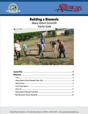 Teacher's Guide: Building a Bioswale | This American Land