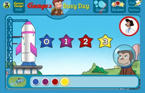 Cohete al espacio - Curious George | PBS KIDS Lab