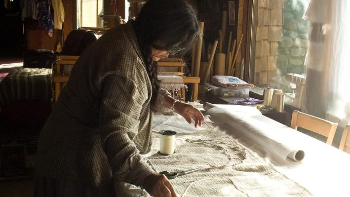 Consuelo Jimenez Underwood Working on a Moon Rebozo | Craft in America