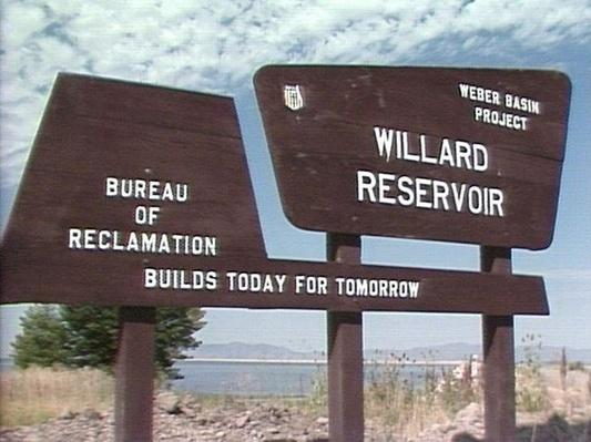 Water: Willard Reservoir Sign | Images of Utah